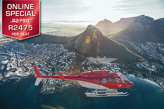 Helicopter | Tours | Robben Island / Two Bay Combo