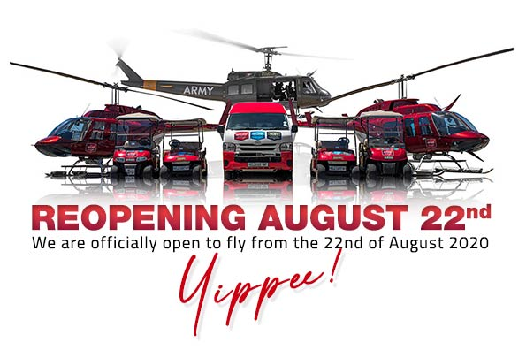 reopening helicopter flights cape town august 2020