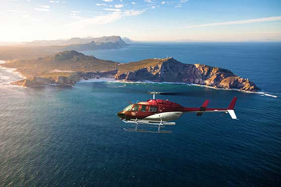Cape Point helicopter flight